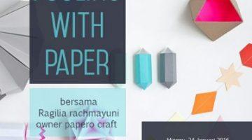 Akber Pekanbaru: Fooling with Paper