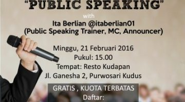 Akber Kudus – Public Speaking
