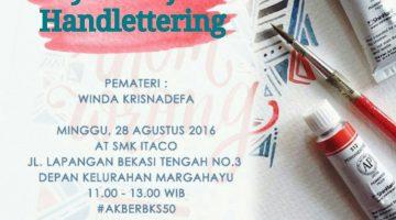 Bekasi: Belajar Handlettering