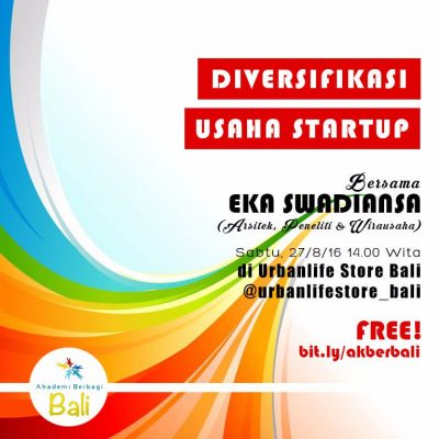 Bali: Diversifikasi Usaha Startup