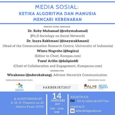 """Jakarta: """"Media Sosial: Ketika Algoritma dan Manusia Mencari Kebenaran"""""""
