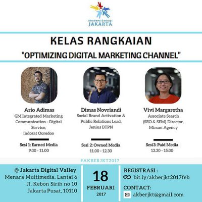 Jakarta (Kelas Rangkaian): Optimizing Digital Marketing Channel