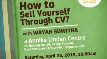 Akber Bali: How to Sell Yourself Through CV?