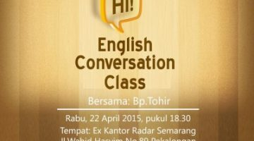 Akber Pekalongan: English Conversation Class
