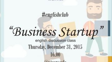 Akber Solo: #englishclub talk about Business Startup