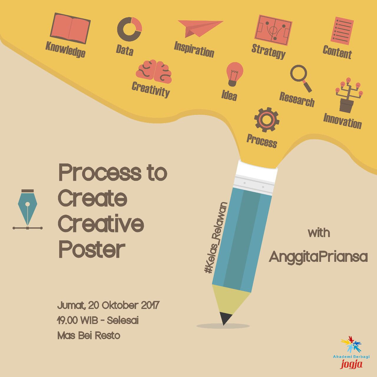 (Kelas Relawan) Jogja: Process to Create Creative Poster