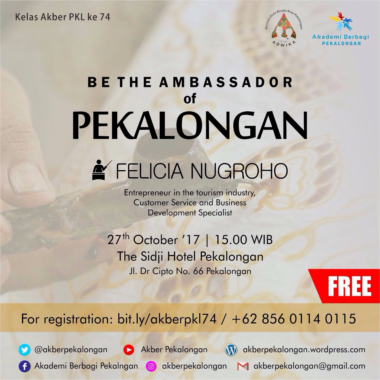 Pekalongan: Be The Ambassador of Pekalongan