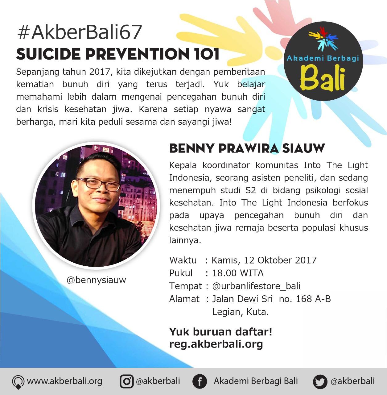 Bali: Suicide Prevention 101