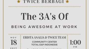 Balikpapan: The 3A's of Being Awesome at Work