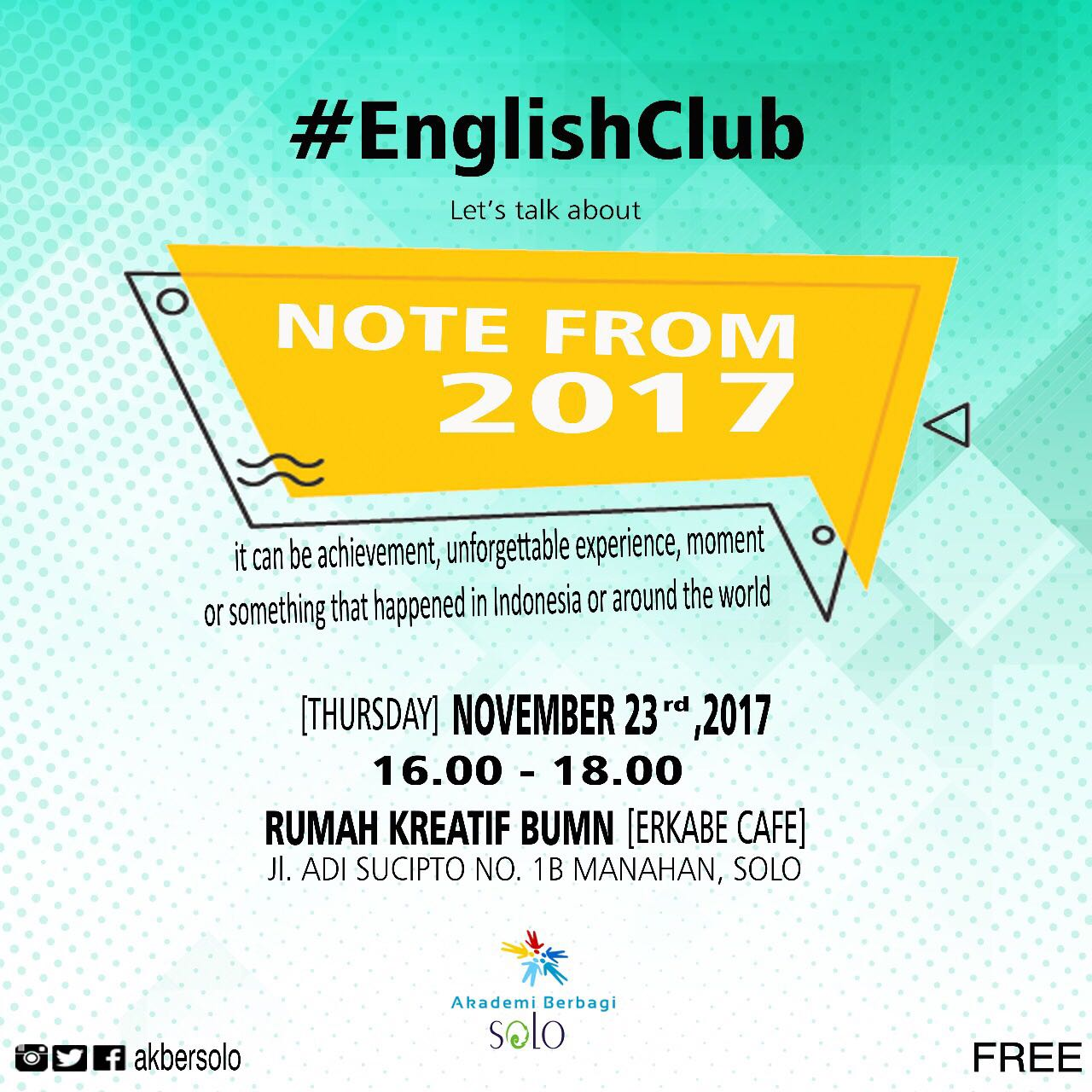 Solo: #EnglishClub – Let's Talk About Note From 2017