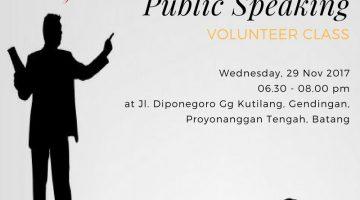 Batang: Kelas Relawan – Public Speaking