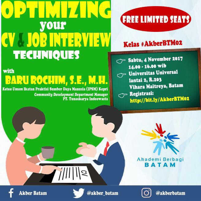 Batam: Optimizing Your CV & Job Interview Techniques
