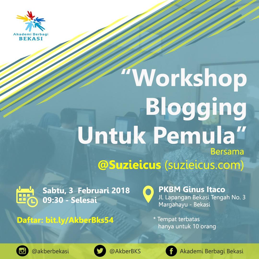 Bekasi: Workshop Blogging untuk Pemula