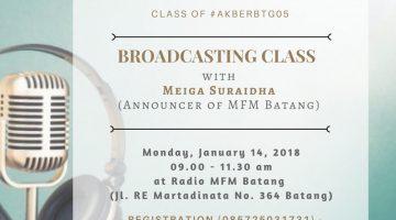 Batang: Broadcasting Class