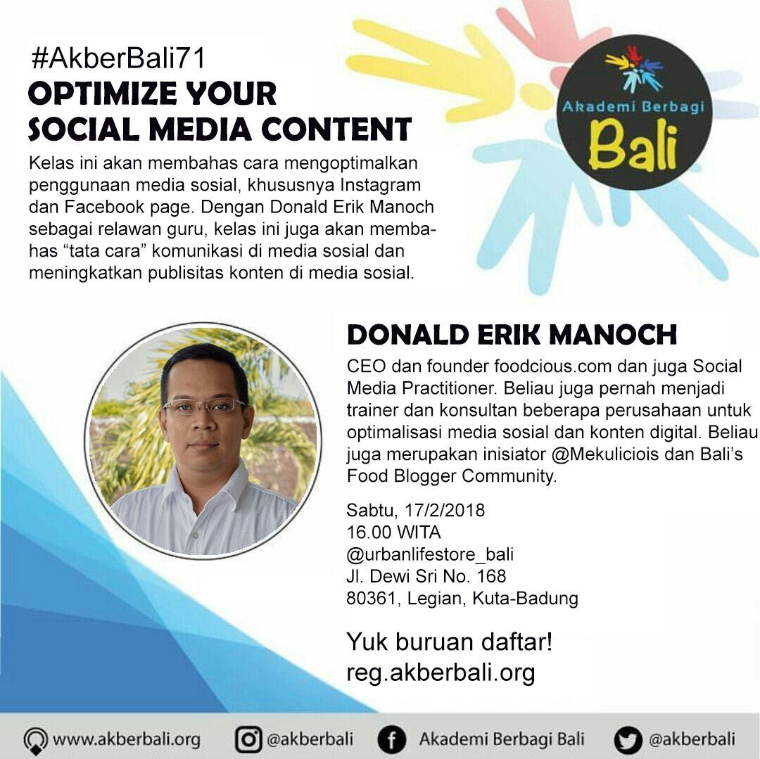 Bali: Optimize Your Social Media Content