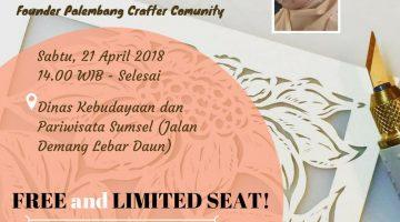 Palembang: Let's Get Fun with Paper Cutting