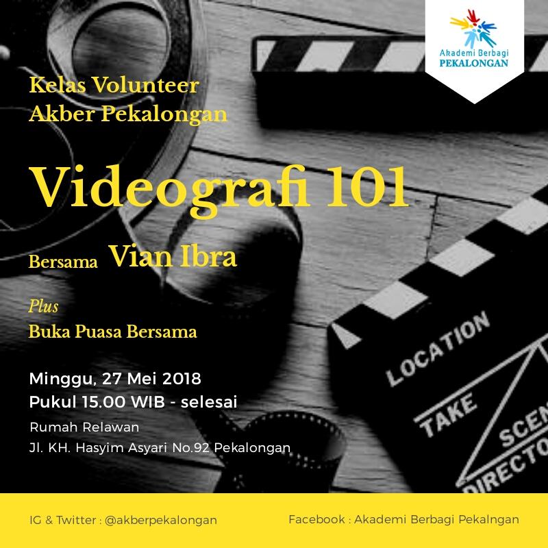 Pekalongan : Videografi 101