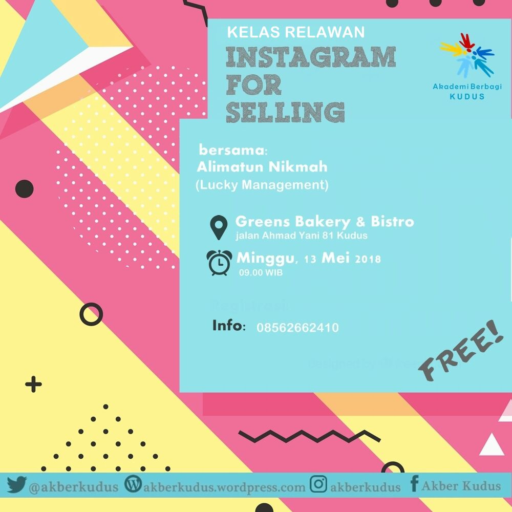 Kudus: #KelasRelawan – Instagram for Selling