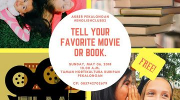 Pekalongan: #EnglishClub – Tell Your Favorite Movie or Book