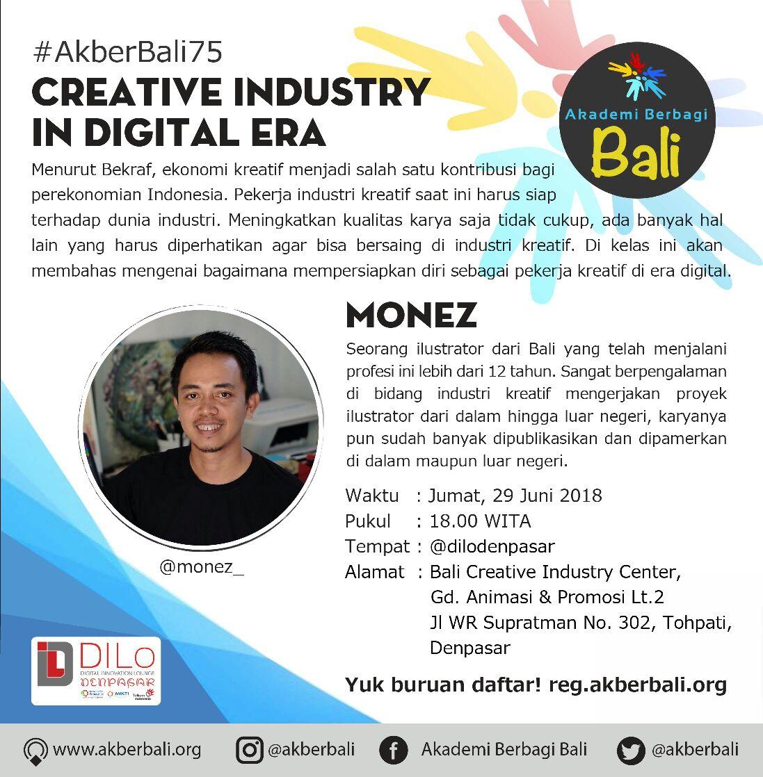 Bali : Creative Industry in Digital Era
