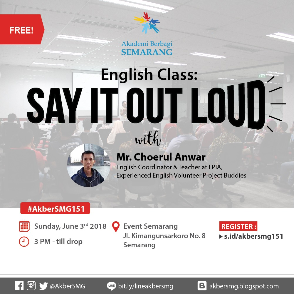 Semarang : English Class – Say it Out Loud