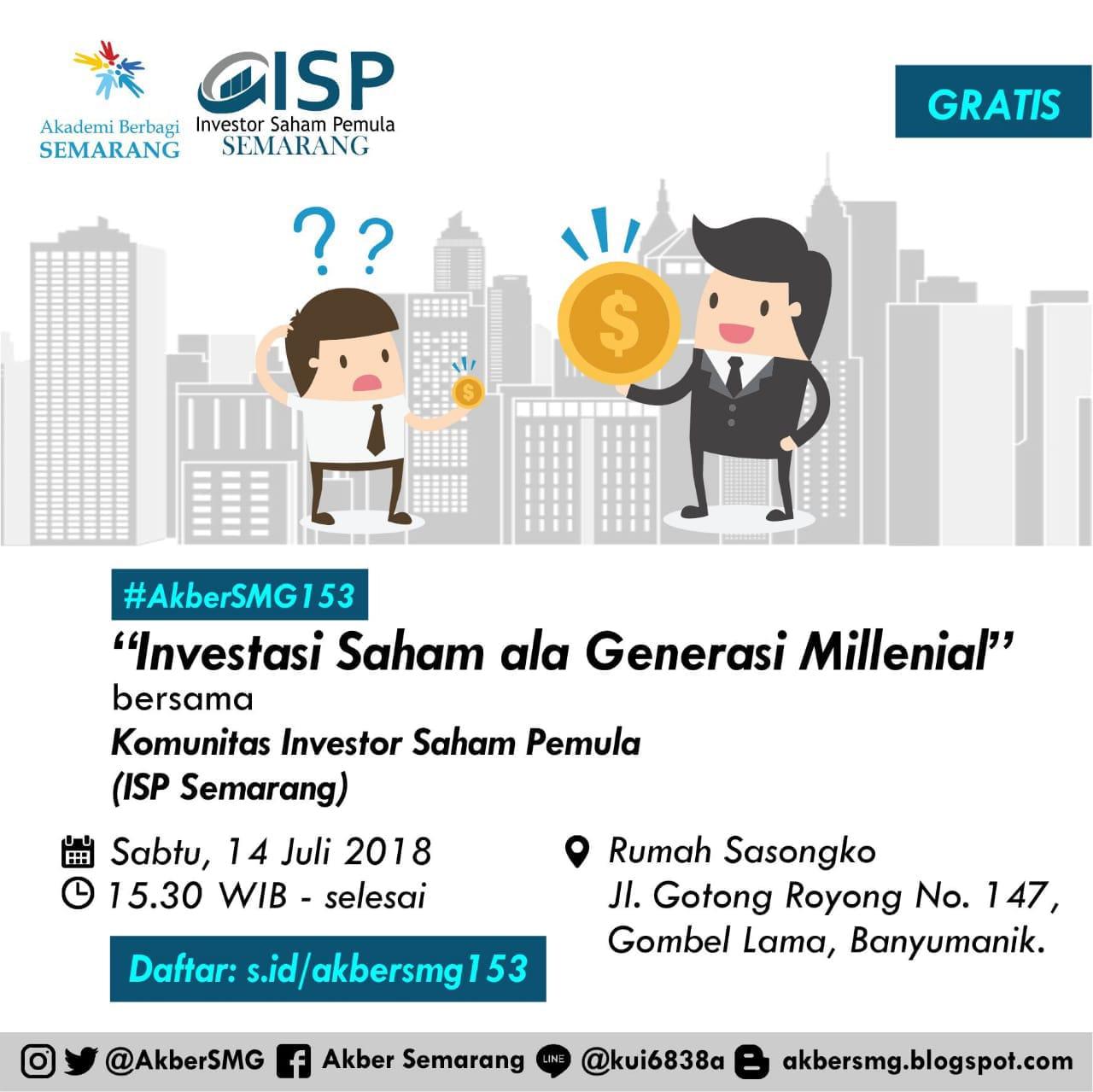 Semarang: Investasi Saham Ala Generasi Millenial