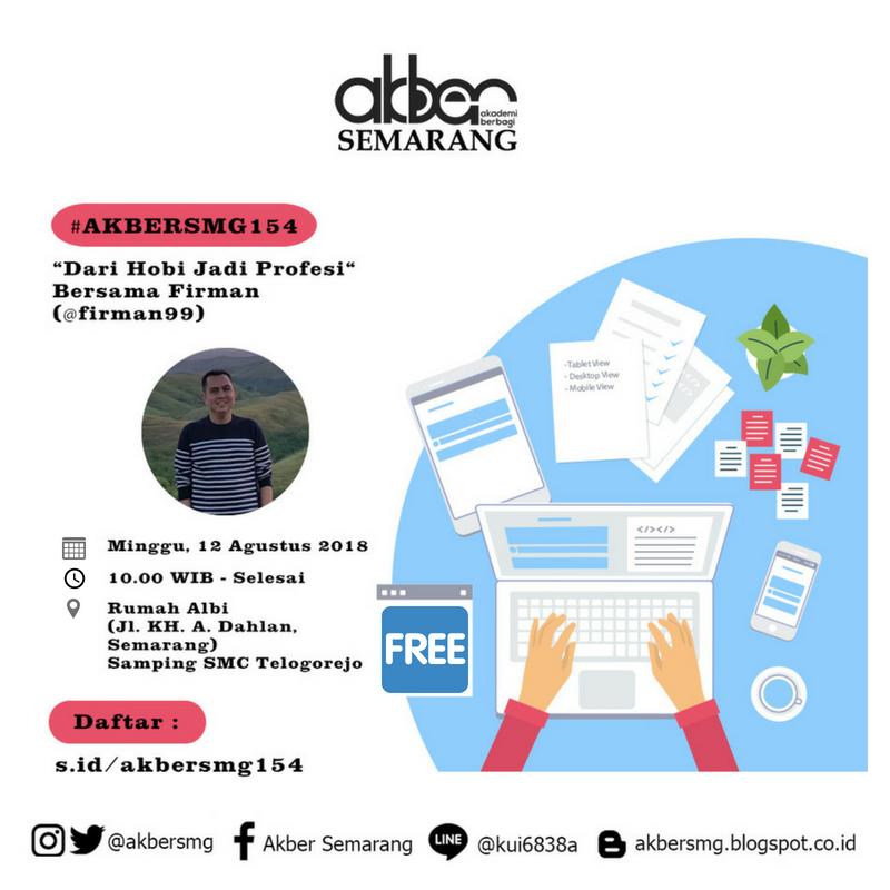 Semarang: Dari Hobi Jadi Profesi