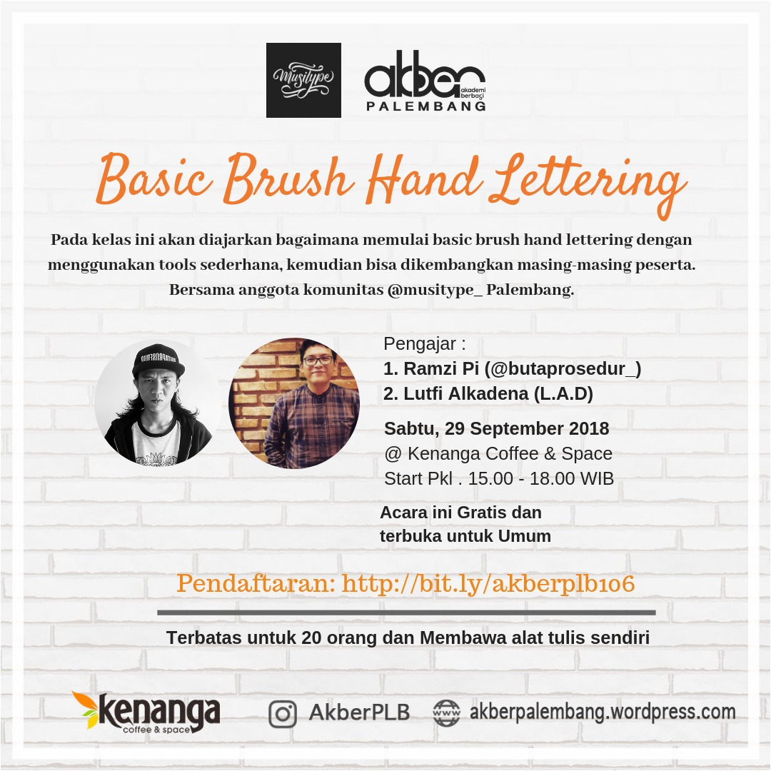 Palembang: Basic Brush Hand Lettering