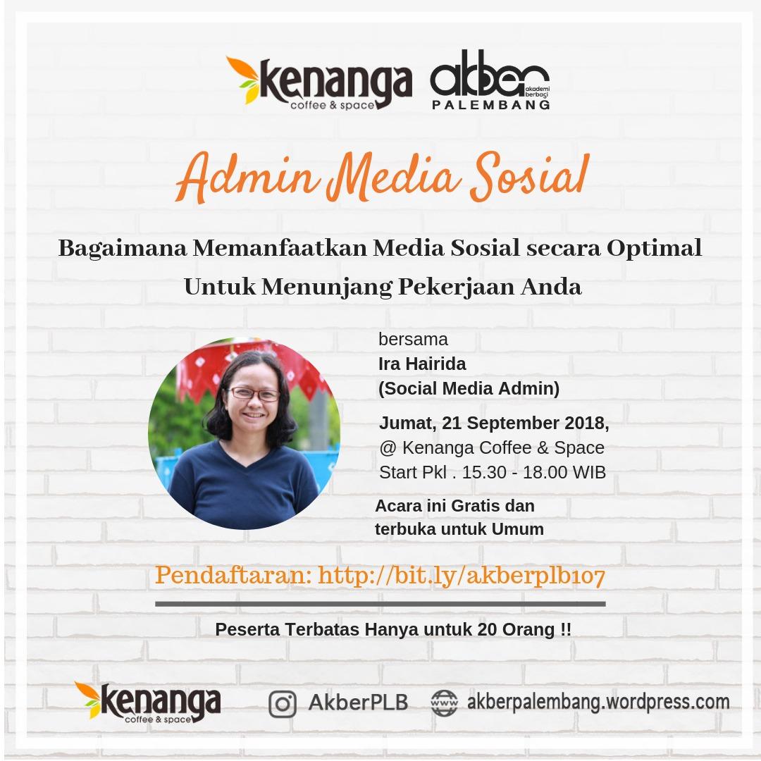 Palembang: Admin Media Sosial