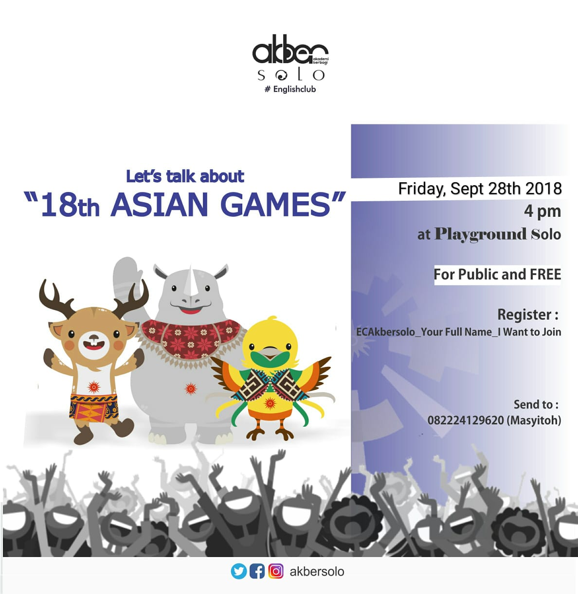 Solo: #EnglishClub – 18th Asian Games