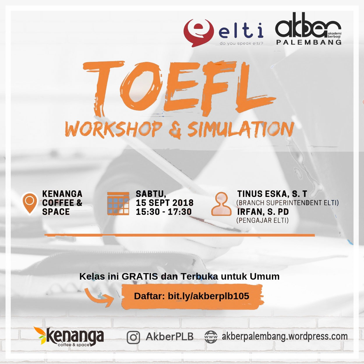 Palembang: TOEFL Workshop & Simulation