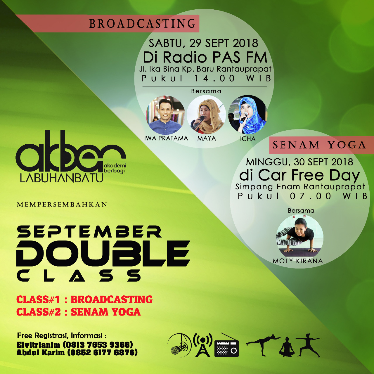 Labuhanbatu: Double Class – Broadcasting & Senam Yoga