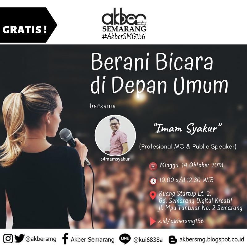 Semarang: Berani Bicara di Depan Umum