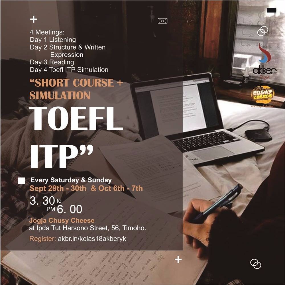 Jogja: Short Course: TOEFL ITP plus Simulation