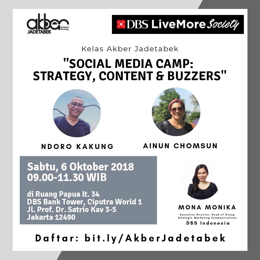 Jadetabek: Social media Camp: Strategy, Content & Buzzers