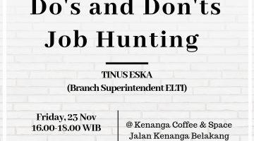 Palembang: Do's & Don'ts Job Hunting