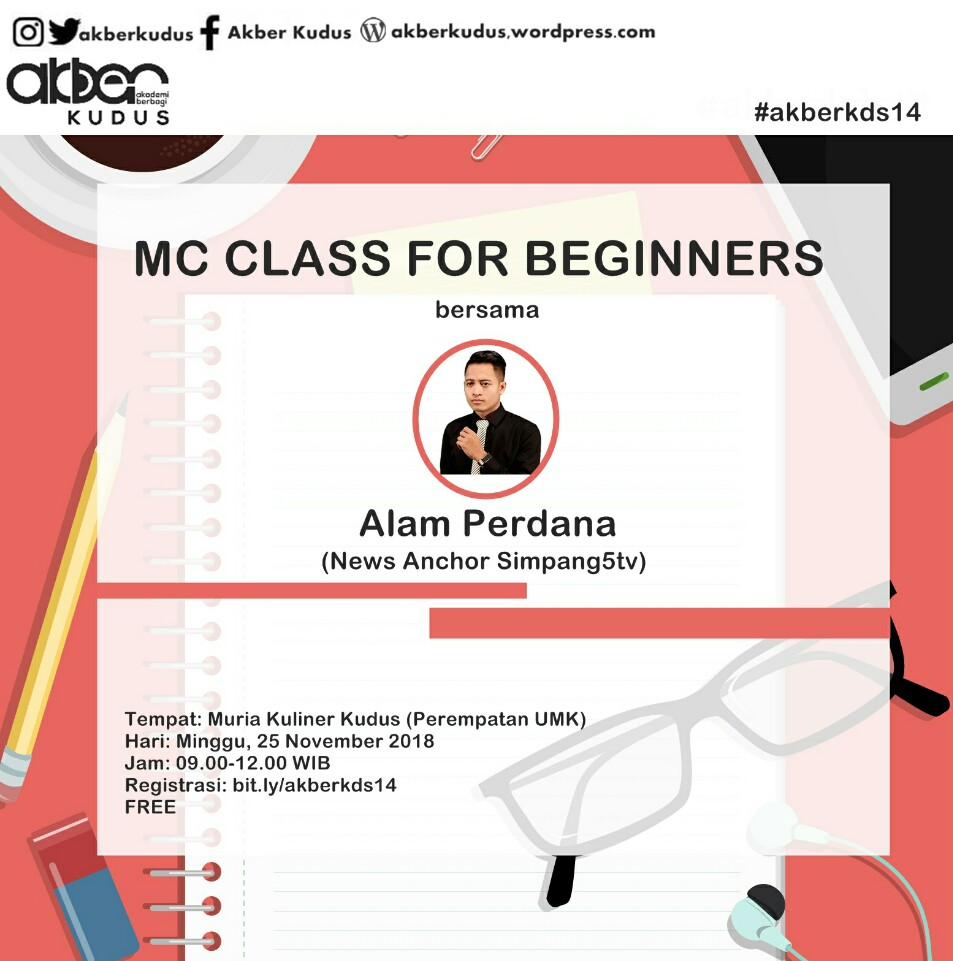 Kudus : MC Class For Beginners