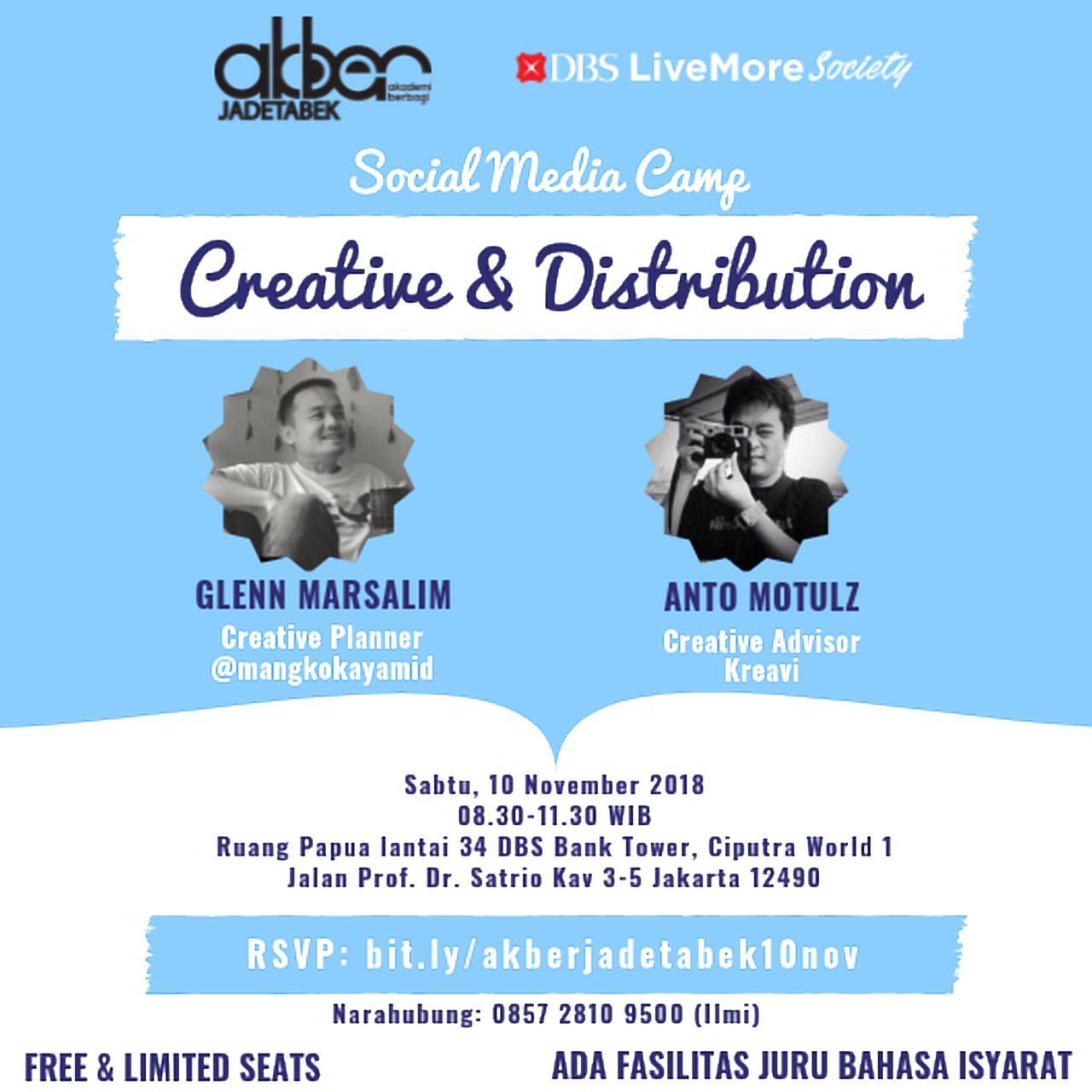 Jadetabek: Social Media Camp: Creative & Distribution