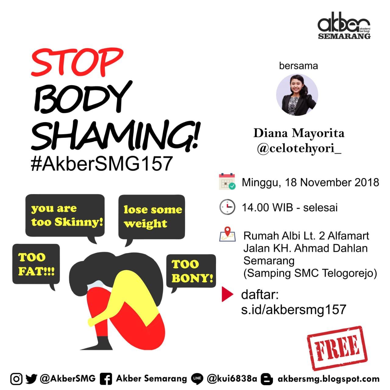 Semarang: Stop Body Shaming!