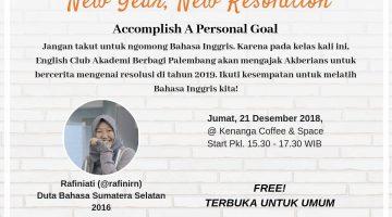 Palembang: New Year, New Resolution