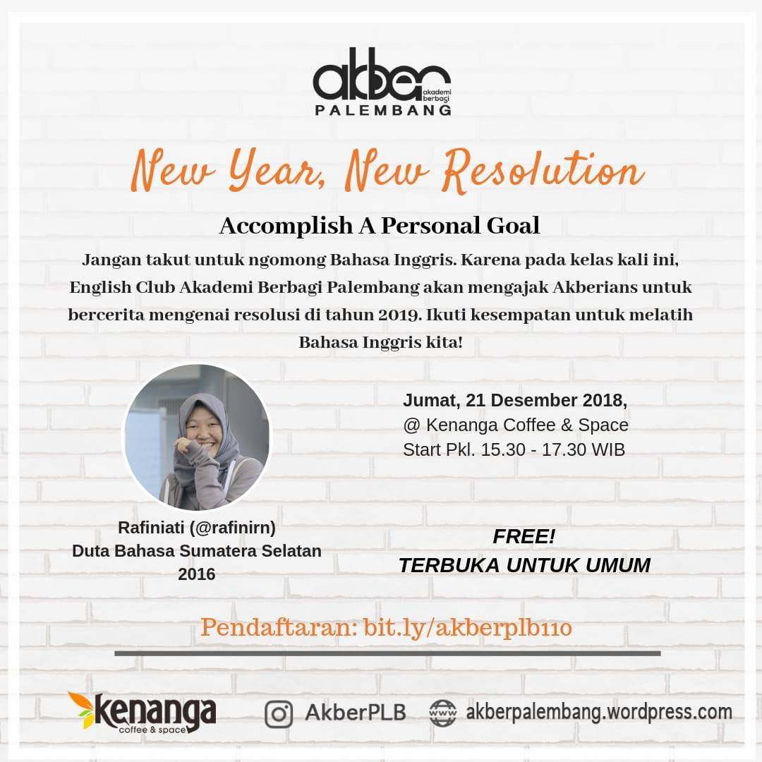 Palembang: New Year, New Resolution