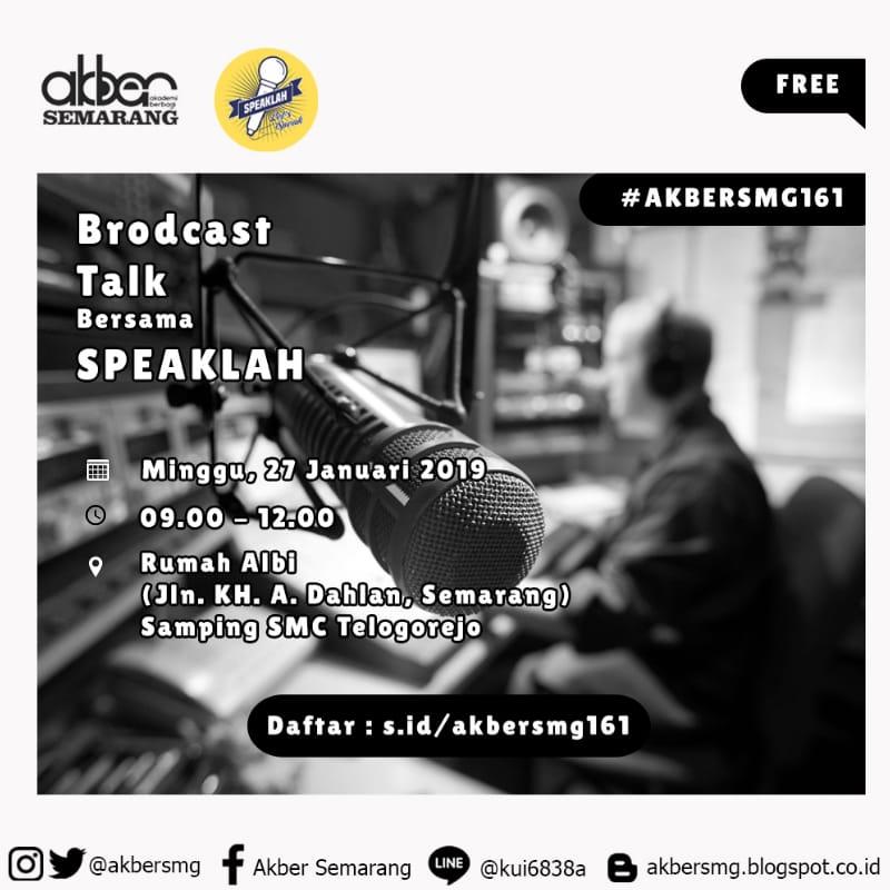 Semarang: Broadcast Talk