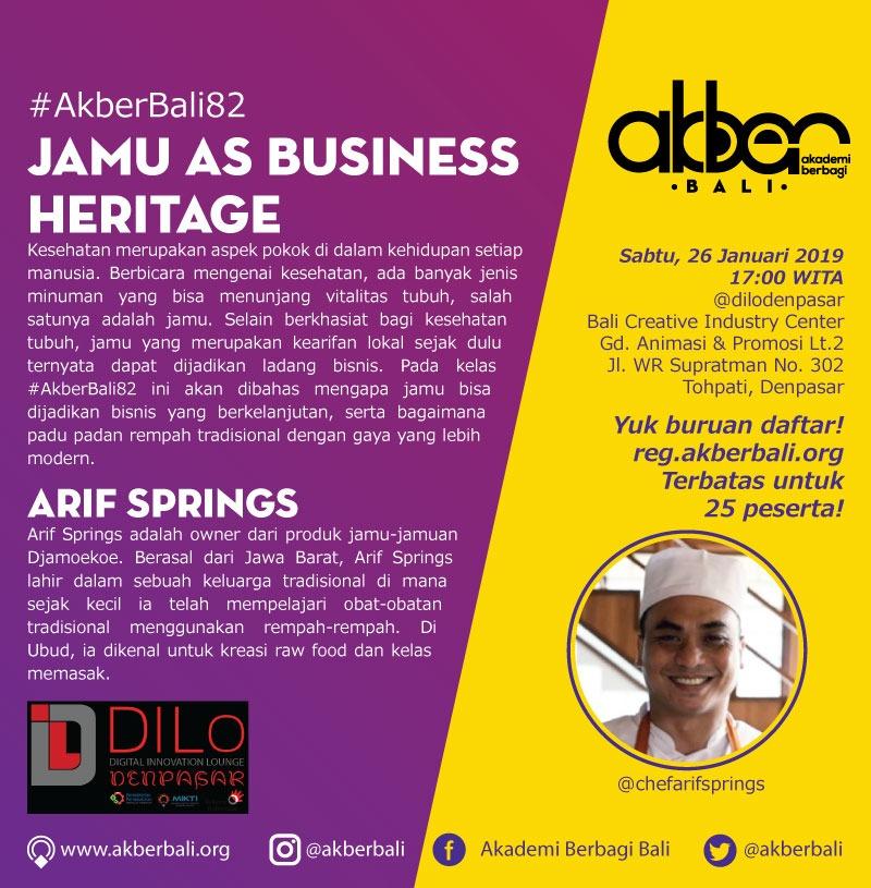 Bali: Jamu as Business Heritage
