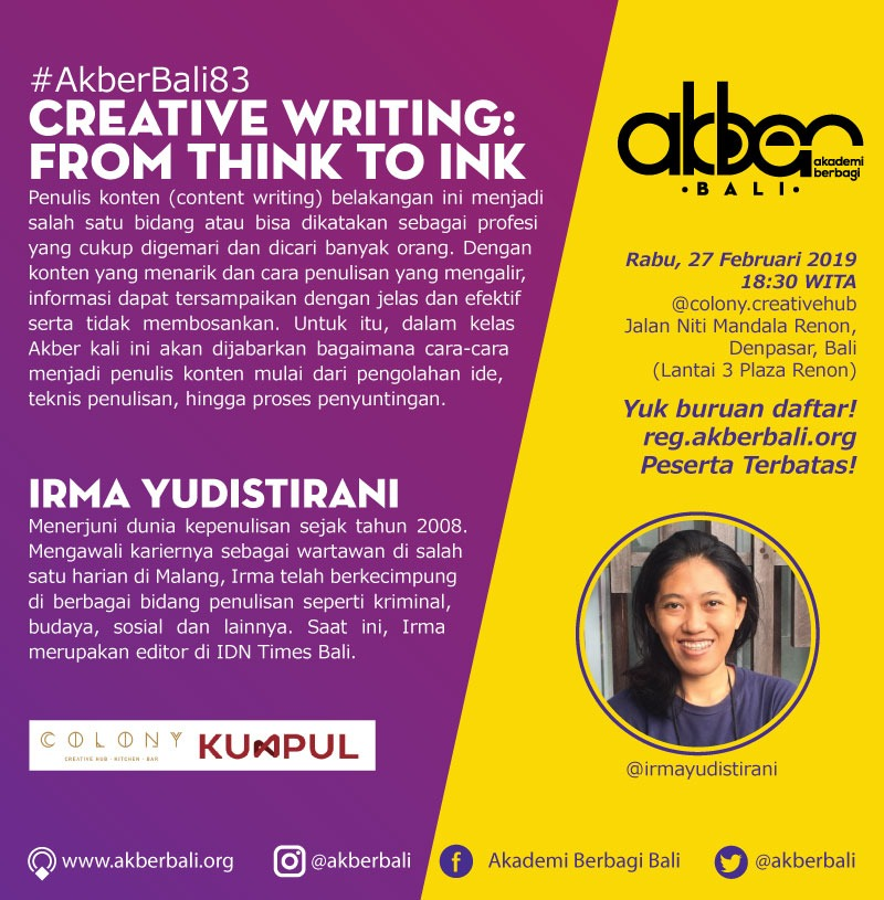 Bali: Content Writing: From Think to Ink
