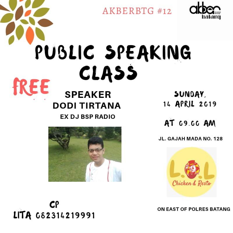 Batang: Public Speaking Class