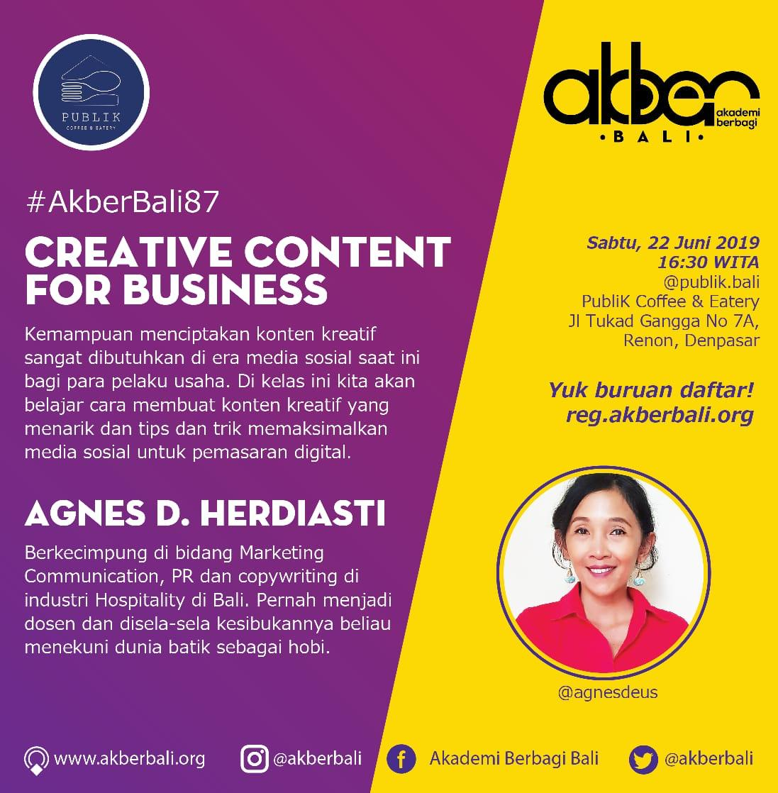 Bali: Creative Content For Business