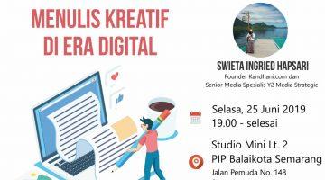 Semarang: Menulis Kreatif Di Era Digital