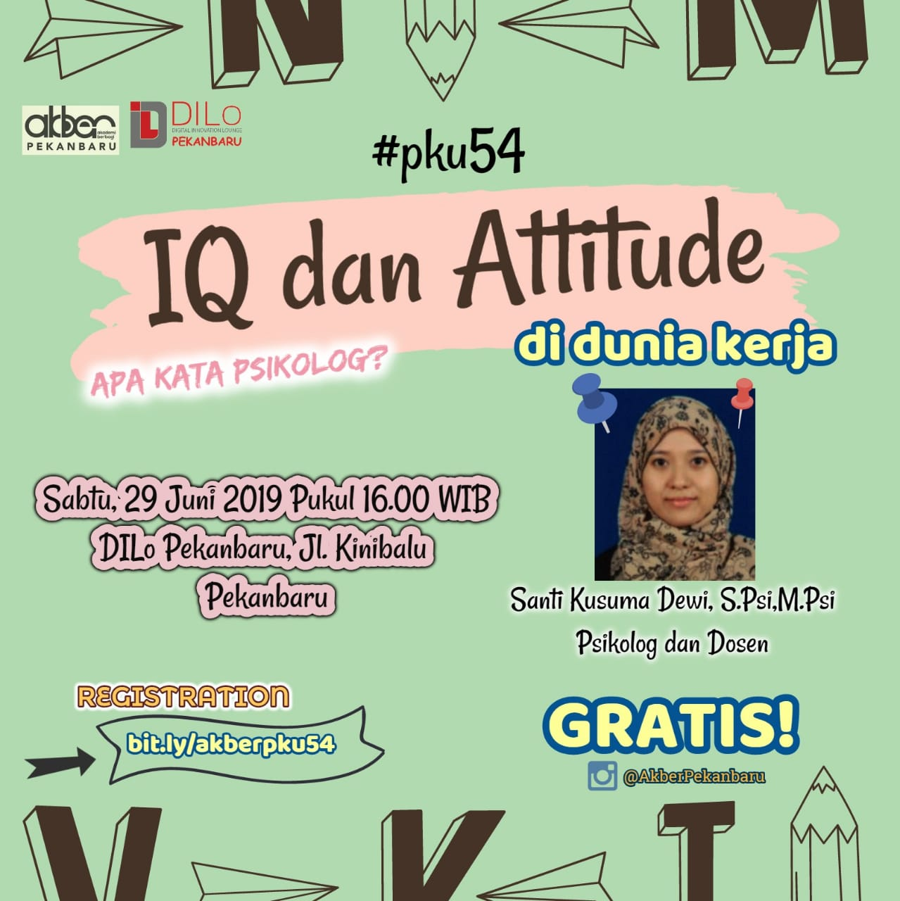 Pekanbaru: IQ dan Attitude di Dunia Kerja