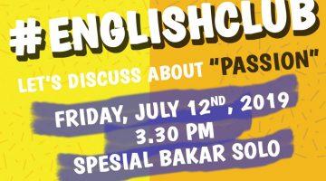 Solo: #EnglishClub – Passion