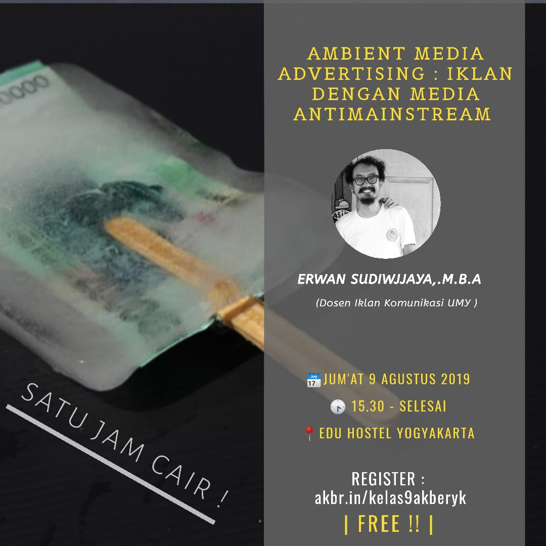 Jogja: Ambient Media Advertising: Iklan Dengan Media Anti Mainstream